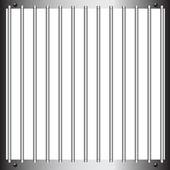 Steel bars of prison bars Vector illustration