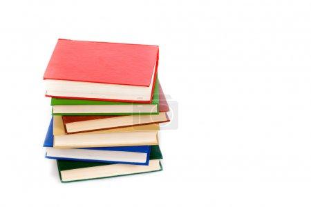 Photo pour Livres en couleur isolés sur blanc - image libre de droit