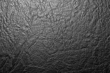 Photo pour Texture cuir noir, très détaillée - image libre de droit
