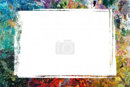 Photo for An image of border with oil paints - Royalty Free Image