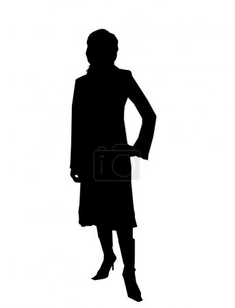 Photo for An picture of silhouette of businesswoman in office - Royalty Free Image