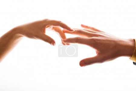 Photo for An image of hands. Man and woman. - Royalty Free Image