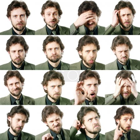 Photo for An image of a set of facial expressions - Royalty Free Image