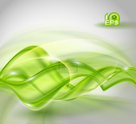 Illustration for Abstract green waving background - Royalty Free Image