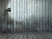 """Постер, картина, фотообои """"Студия в старые межкомнатные деревянные"""""""