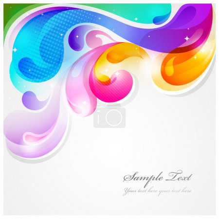 Illustration for Abstract colorful paint splash vector background - Royalty Free Image
