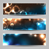 Banners with abstract lights