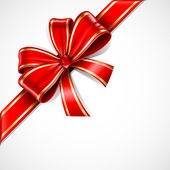 Red and gold vector gift bow and ribbon EPS10 - Shadows are transparent