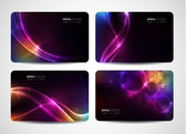 Abstract vector business cards