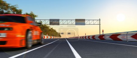 Photo for The racing car image in movement - Royalty Free Image