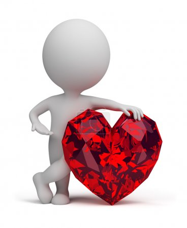3d small - ruby heart