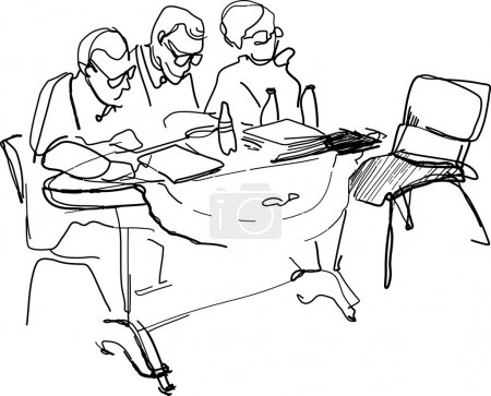 Teachers with glasses sitting at a desk