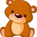 Fun zoo. Illustration of cute Bear...