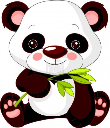 Illustration for Fun zoo. Illustration of cute Panda - Royalty Free Image