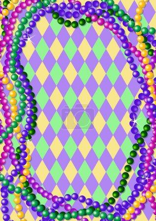 Mardi Gras beads background