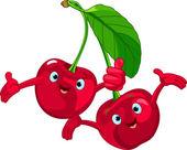Cheerful Cartoon Cherries character
