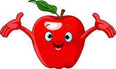 Cheerful Cartoon Apple character