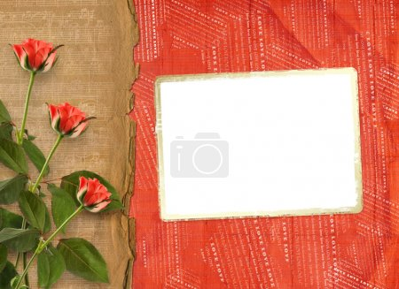 Greeting Card to St. Valentine's Day with hearts and roses