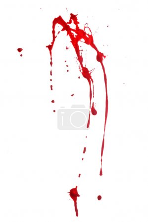 Photo for Red paint splashes against a white background - Royalty Free Image