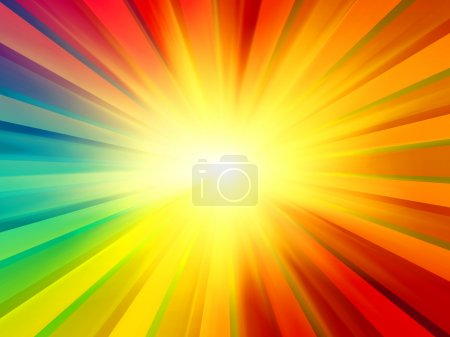 Multicolored Sun Rays Background