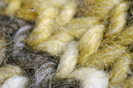 Photo for A macro shot of melange knitted fabric - Royalty Free Image
