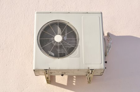 Outdoor Unit of Air Conditioner on the Wall