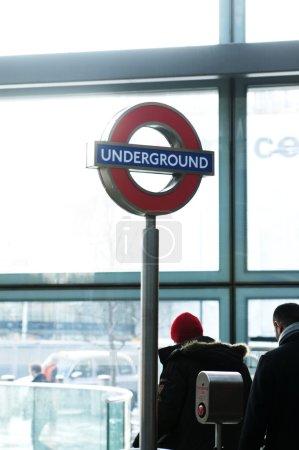London United Kingdom, London Underground logo - January 5 2012: Transport for using the Underground logo by transportation systems in London