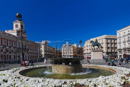 Photo for Sol plaza in the center of Madrid Spain - Royalty Free Image