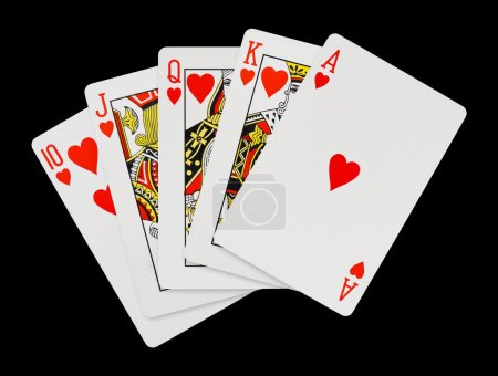 Photo for Playing cards - isolated on black background - Royalty Free Image