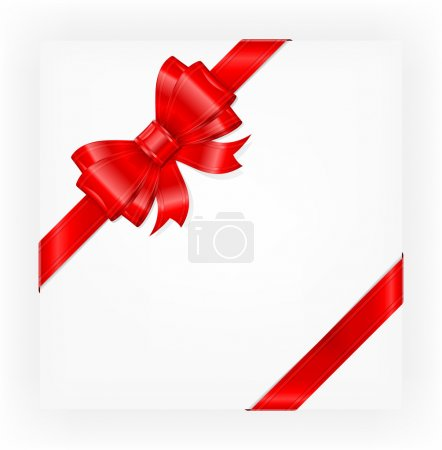 Illustration for Big red gift bow with ribbons, illustration vector - Royalty Free Image