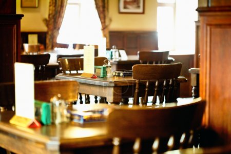 Photo for Interior of the modern restaurant (cafe, pub) - Royalty Free Image