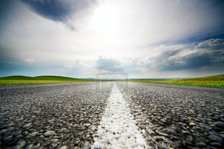 Photo for High speed road with cloudy sky background - Royalty Free Image