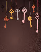 Abstract background with keys - vector illustration