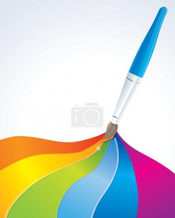 Illustration pour Arrière-plan artistique arc-en-ciel - illustration vectorielle - image libre de droit