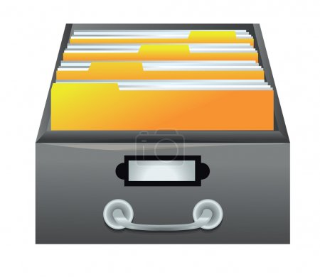 Vector catalog - drawer with folders for files...