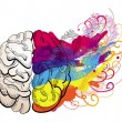 Vector creativity concept - brain illustration...