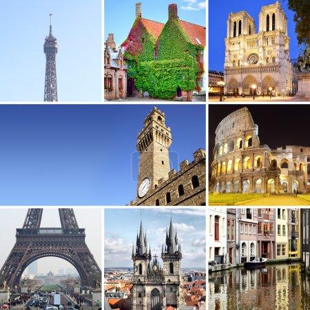 Photo for Europe - set of european landmark shots - Royalty Free Image