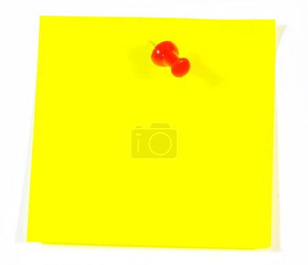 Yellow adhesive note isolated