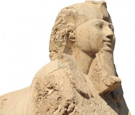 The Alabaster sphinx of Memphis, Egypt