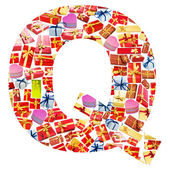 Q Letter - Alphabet made of giftboxes