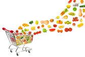 Potravinářské výrobky přednostního nákupní košík