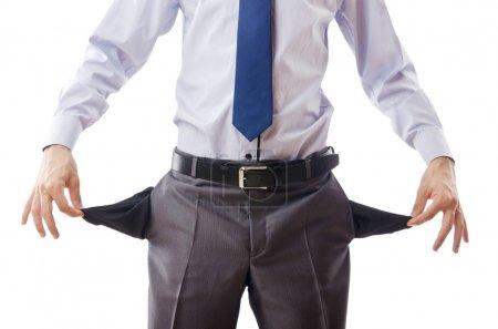 Businessman with empty pockets...