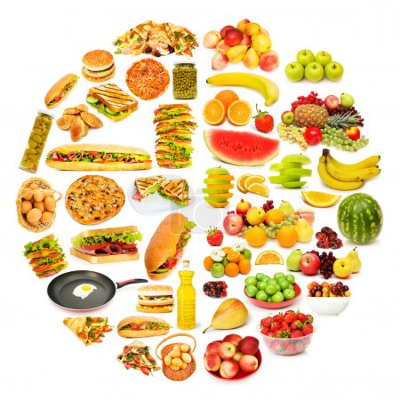 Photo for Circle with lots of food items - Royalty Free Image