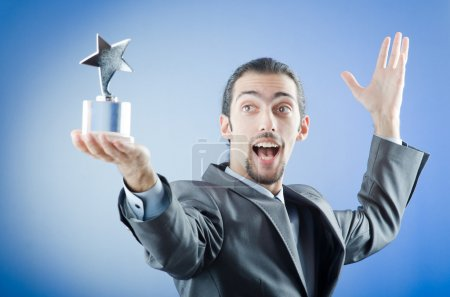 Photo pour Un homme d'affaires récompensé par une étoile - image libre de droit