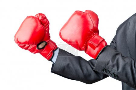 Photo for Businessman with boxing gloves - Royalty Free Image