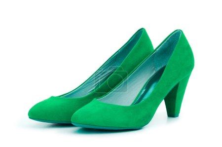 Photo pour Chaussures Femme Vert dans le concept de la mode - image libre de droit