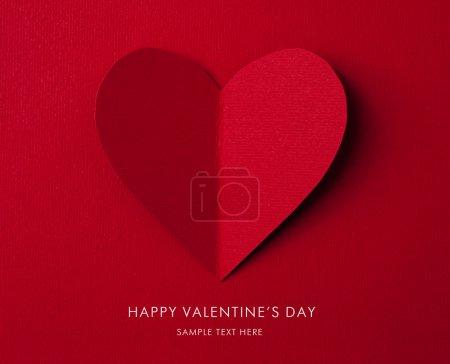 Photo pour Carte de vœux. coeur de Saint Valentin papier - image libre de droit