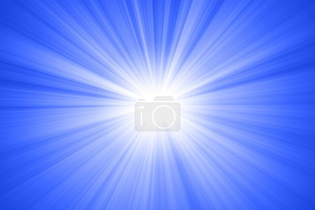 Photo pour Soleil abstrait avec rayons - image libre de droit