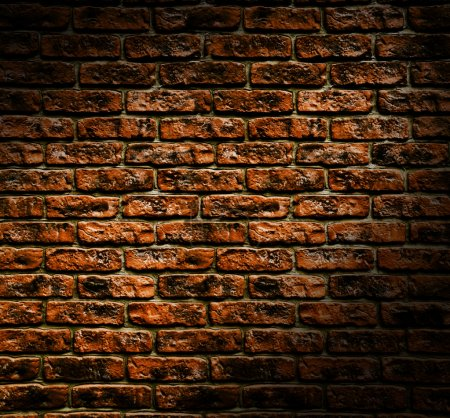 Close up view of the Grunge brick wall texture...