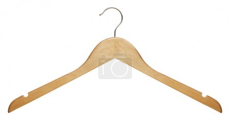 Wooden clothes hanger